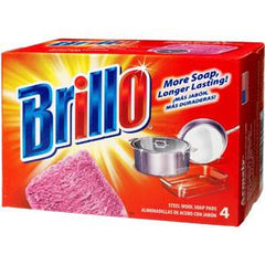 BRILLO RED SOAP -4 PADS