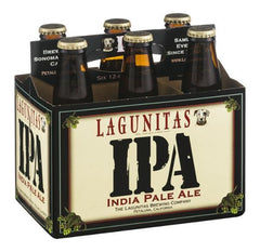 LAGUNITAS IPA INDIA PALE ALE BEER - 6 PACK - 12 FL OZ EACH BOTTLE