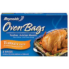 REYNOLDS OVEN BAGS TURKEY SIZE 19 IN X 23.5 IN