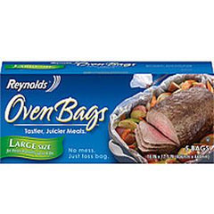 REYNOLDS OVEN BAGS LARGE SIZE 16 IN 17.5 IN