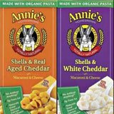 ANNIE'S WHOLE WHEAT SHELLS & WHITE CHEDDAR MAC & CHEESE
