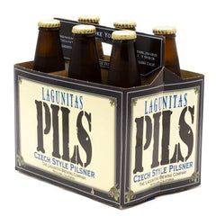LAGUNITAS PILS CZECH STYLE PILSNER - 6 PACK - 12 FL OZ EACH BOTTLE