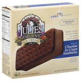 JULIE'S ORGANIC CHOCOLATE ICE CREAM SANDWICHES