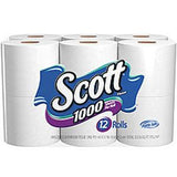 SCOTT WHITE BATH TISSUE 12 PACK