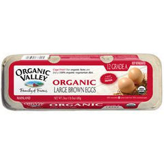 ORGANIC VALLEY ORGANIC LARGE BROWN EGGS