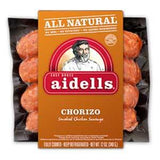 AIDELLS ALL NATURAL CHORIZO SMOKED CHICKEN SAUSAGE