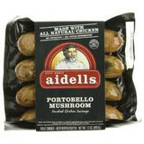 AIDELLS PORTOBELLO MUSHROOM SMOKED CHICKEN SAUSAGE