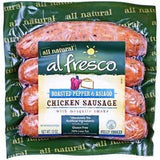 AL FRESCO ALL NATURAL ROASTED PEPPER & ASIAGO CHICCKEN SAUSAGE