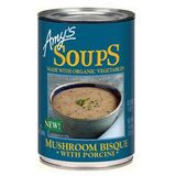 AMY'S SOUP ORGANIC MUSHROOM BISQUE WITH PORCINI