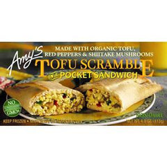 AMY'S TOFU SCRAMBLE POCKET SANDWICH