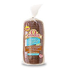 ARNOLD BAKERY LIGHT 100% WHOLE WHEAT BREAD