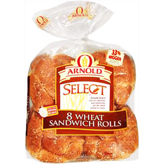 ARNOLD WHEAT SANDWICH ROLL 8 PACK