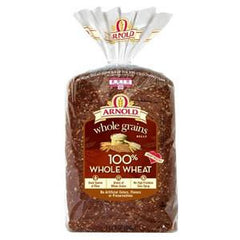 ARNOLD WHOLE GRAIN 100% WHOLE WHEAT BREAD