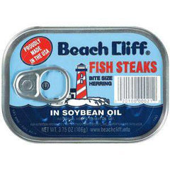 BEACH CLIFF FISH STEAKS IN SOYBEAN OIL