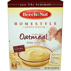 BEECH NUT HOMESTYLE OATMEAL BABY CEREAL