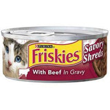 FRISKIES SAVORY SHREDS WITH BEEF IN GRAVY