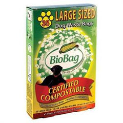 BIOBAG LARGE SIZED DOG WASTE BAGS CERTIFIED COMPOSTABLE