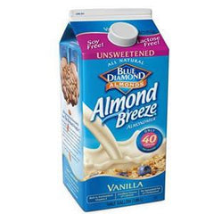 BLUE DIAMOND ALMOND BREEZE UNSWEETENED VANILLA ALMOND MILK