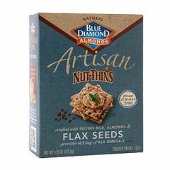 BLUE DIAMOND ARTISAN NUT THINS FLAX SEEDS CRACKERS SNACKS