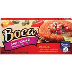BOCA SPICY CHICKEN MEATLESS PATTIES