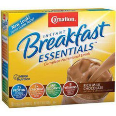 NESTLE CARNATION BREAKFAST ESSENTIALS MILK CHOCOLATE
