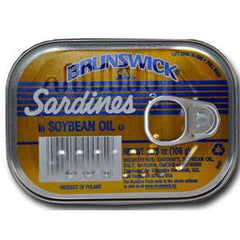BRUNSWICK SARDINE IN SOY OIL