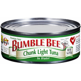 BUMBLE BEE TUNA CHUNK LIGHT TUNA IN WATER