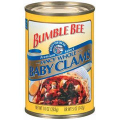 BUMBLE BEE WHOLE BABY CLAMS