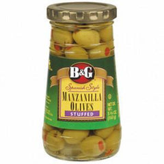 B&G MANZANILLA OLIVES STUFFED