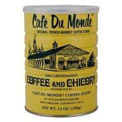 CAFE DU MONDE DECAFFEINATED COFFE AND CHICORY