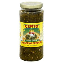 CENTO HOT DICED JALAPENO GREEN PEPPERS
