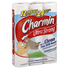 CHARMIN ULTRA STRONG 12 PACK- 12 DOUBLE = 24 REGULAR ROLLS