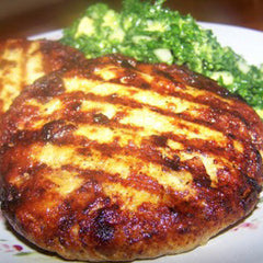 CHICKEN BURGERS, PARSLEY AND SUNDRIED TOMATOES