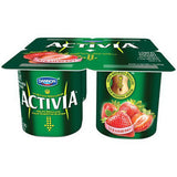 DANNON ACTIVIA STRAWBERRY YOGURT 4 PACK