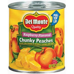 DEL MONTE RASPBERRY FLAVORED CHUNKY PEACHES