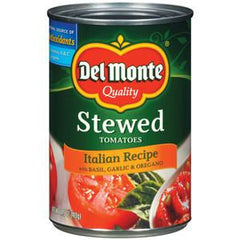DEL MONTE STEWED TOMATOES ITALIAN RECIPE WITH BASIL  GARLIC AND OREGANO