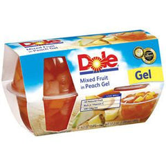 DOLE MIXED FRUIT IN PEACH GEL 4 PACK