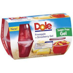 DOLE PINEAPPLE IN STRAWBERRY GEL - SUGAR FREE 4 PACK