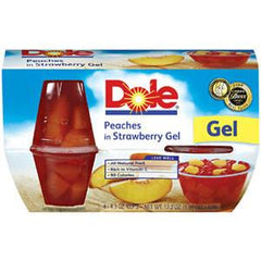 DOLE PEACHES IN STRAWBERRY GEL 4 PACK