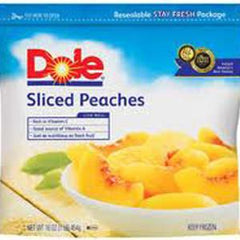 DOLE PEACHES SLICED - FROZEN