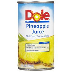 DOLE 100% PINEAPLE JUICE