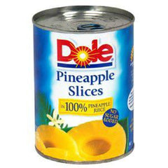 DOLE PINEAPPLE SLICES NO SUGAR ADDED