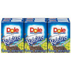 DOLE RAISINS SEEDLESS 6PK
