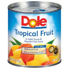 DOLE TROPICAL MIXED FRUIT IN LIGHT SYRUP