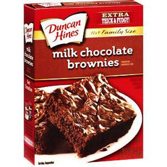 DUNCAN HINES MILK CHOCOLATE BROWNIES - FAMILY SIZE