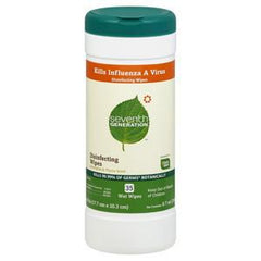 SEVENTH GENERATION DISINFECTING WIPES KILLS INFLUENZA A VIRUS
