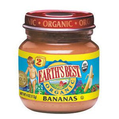 EARTH'S BEST ORGANIC BANANAS - BABY FOOD