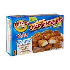 EARTH'S BEST   KIDZ ALL NATURAL CHICKEN NUGGETS 70%  LESS FAT