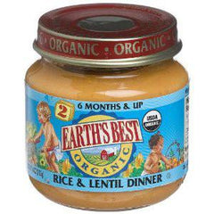 EARTH'S BEST ORGANIC RICE & LENTIL DINNER - BABY FOOD