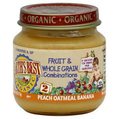 EARTH'S BEST ORGANIC PEACH BANANA OATMEAL - BABY FOOD